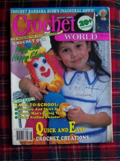 August 1990 Crochet World Pattern Magazine 20 + Crocheting Patterns