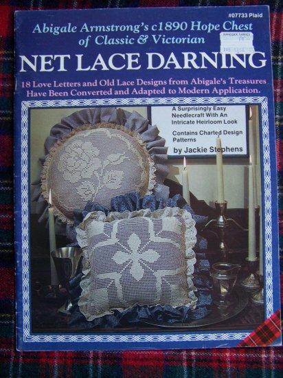 Vintage Victorian Net Lace Darning Pattern Book Chart Patterns 07733