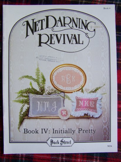 1 Cent USA S&H Vintage Net Darning Revival Book 4 Oval & Rect Border Small & Large Alphabet