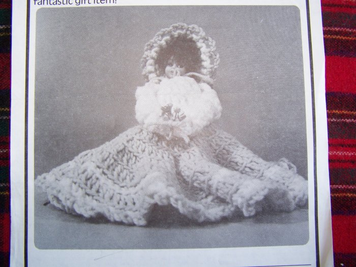 USA 1 Penny S&H Vintage Crochet Pattern Southern Bell Doll Air Freshner Decoration