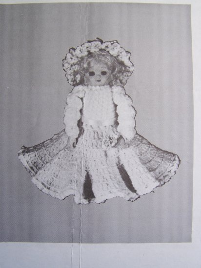 1 Cent USA S&H Angelina Crochet Baby Doll Pattern Air Freshener Cover