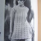 Vintage 20 Crochet Knitting Patterns Dresses Tops Girls Misses Blue Ribbon Patterns Book