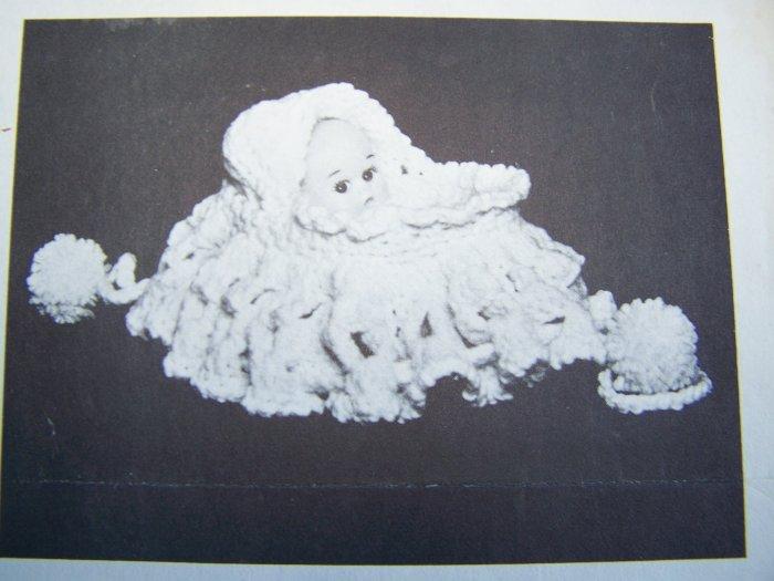 Vintage Crochet Pattern Original Bassinet Doll Purse Dolls Clothes Stitch N Stuff