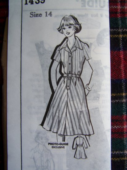 Vintage Kate Marchbands Shirtwaist Day Dress Mail Order Sewing Pattern 1439