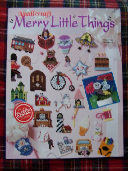 1990's Needlecraft Shop Leaflet Merry Little Things 23 Plastic Canvas Patterns