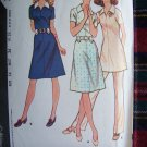 1970's Vintage Sewing Pattern Retro Tab Belted Dress Tunic Top Sz 14 Pants 3101