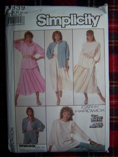 1980s Vintage Go Everywhere Wardrobe sz 8 - 14 Sewing Pattern 8339