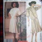 1980's Vintage Sewing Pattern Dynasty 2 Pc Dress Blouson Top Flared Skirt 2368