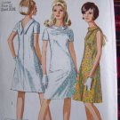 Easy Vintage A Line Dress Sewing Pattern 7129 Juniors 11 Deep V Back