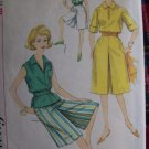 Vintage 1960&#39;s Sewing Pattern 2 Length Culottes Blouse 3866