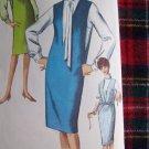 60's Vintage Sewing Pattern 5482 Dart Fit Long Slv Bouse Deep V Jumper Dress