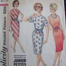 60s Easy Vintage Sewing Pattern One piece Dress Kick Pleat Junior Petite 4348