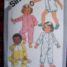 Vintage Childrens Pajamas Fall Winter Summer Sleepers Sz 1/2 Toddlers Sewing Pattern 5593