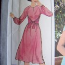 70's Vintage Sewing Pattern Pullover Dress 8 10 12 Wrap Tie Back Panel 8413