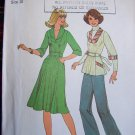 70's Vintage Sewing Pattern 7665 Hippie Dress Tie Back Tunic Top Shawl Collar