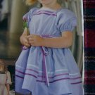USA 1 Cent S&H Girls 5 6 6X Dress Puff Sleeve Twirl SKirt Vintage Sewing Pattern 5234