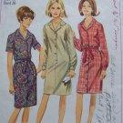 Vintage Mod 1960's Sewing Pattern One piece Dress Sz 16 Bust 36 S 6698