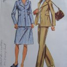 1970's Vintage Sewing Pattern Misses Bust 38 Suit Set Unlined Jacket SKirt Pants 9837