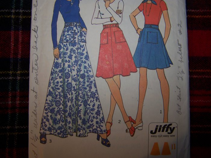 USA 1 Cent S&H 1970's Vintage Back Wrap Skirts Mini Midi Maxi Lengths Sz 12 14 Sewing Pattern 6789