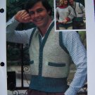 USA 1 Cent S&H His Hers Fitted Button Up Sweater Vests Vintage Knitting Patterns