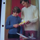 USA 1 Penny S&H Vintage Knitted Family Sweaters Knitting Patterns