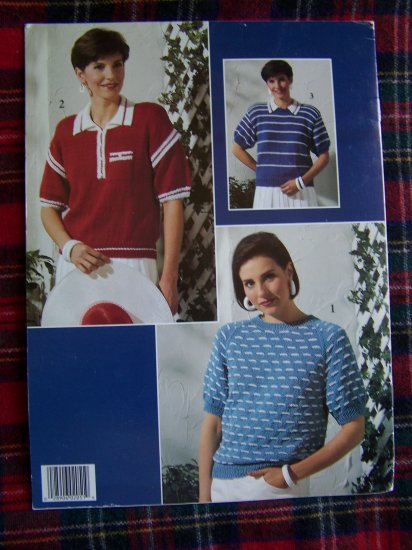 1990's Leisure Arts Leaflet 2051 Misses Knitted Sweater Patterns Knitting