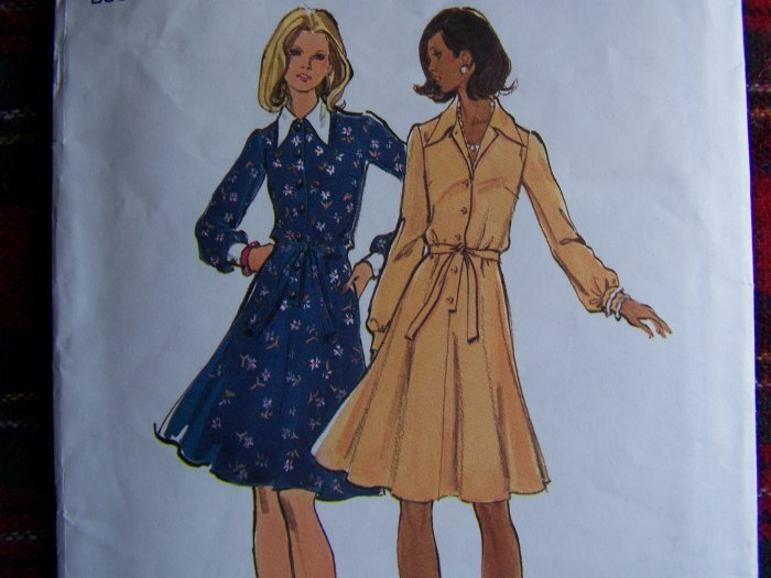 1  Cent USA S&H Vintage Sewing Pattern 3264 Flare Dress Long Sleeves Sz 14