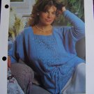 1 Cent USA Shipping Vintage Plus Size Knitting Pattern Pullover Sweater With Lace Panels