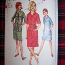 Vintage Sewing Pattern 6491 One Piece Shift Dress in Two Lengths Sz 16