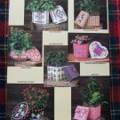 Annie's Attic Plastic Canvas Patterns Pretty Plant Pot Covers Decorative Boxes # 1