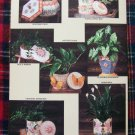1990's Annies Attic Patterns Plastic Canvas Book Plant Pot Covers Fancy Boxes # 2