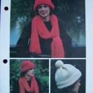 S&H 1 Cent USA Vintage Knitting Patterns Quick Easy Scarves Hats Mittens Winter Wear