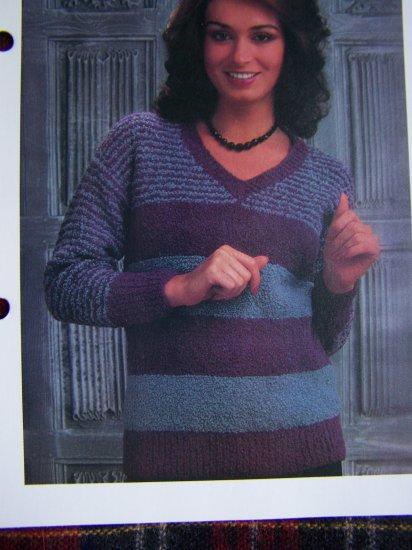 S&H 1 Cent USA Misses V Neck Pullover Sweater Vintage KNitting Pattern