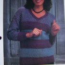 S&H 1 Cent USA Misses V Neck Pullover Sweater Vintage KNitting Pattern