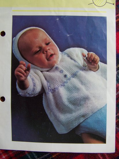 USA 1 Cent S&H Vintage Babies Knitted Jackets and Hooded Jacket Knitting Patterns Lot