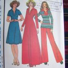 70's Vintage Hippie Sewing Pattern Pullover Short or Maxi Dress Top Pants