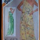 80s Vintage Sewing Pattern 9930 Sz 12 Evening Gown or Short Dress 1 Shoulder Tie