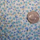 Vintage Kanebo International Collection Cotton Fabric Tiny Blue Flowers Small Floral