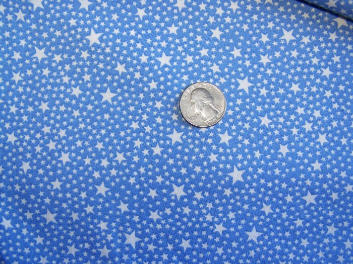 Vintage COtton Fabric by Treasures From The Attic Blue White Stars