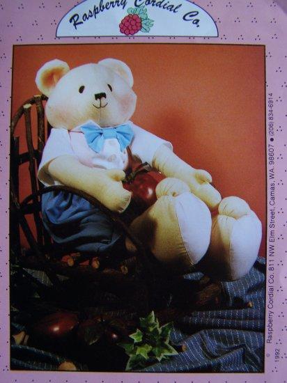 Uncut 90's Soft Sculpture Christopher Teddy Bear Stuffed Animal Sewing Pattern