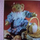Uncut 90's Abigail Soft Sculpture Teddy Bear Doll & Clothes Sewing Pattern