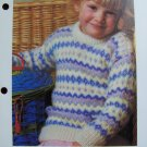 USA 1 Cent Shipping Girls Vintage Knitting Pattern Pastel Fair Isle