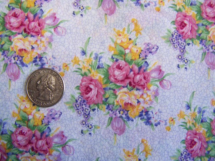 3 Yards + Daisy Kingdom Cotton Fabric 1292 Purple Springs Allover Floral Sewing Material