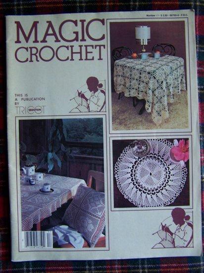 1980's Vintage Magic Crochet Pattern Magazine 17 Doily Bedspread Table