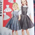 1960s Vintage Girls Variety Jumper Dresses Sz 14 Sewing Pattern 9914