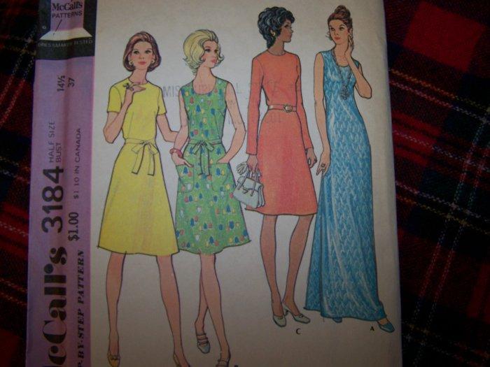Vintage Knit 70's Short or Long Length Dress Sleeve Option 3184 Half Size 14.5