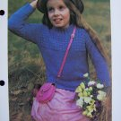 1 Cent USA S&H Boys and Girls Crew Neck with Stitch Knitting Pattern Sweater