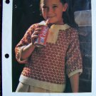USA Penny Shipping Special Girls Knitted Sweater Blouse KNitting Pattern