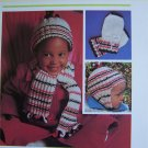 USA 1 Cent S&H Vintage Knitting Pattern Age 1 2 3 years Cap Helmet Hat Mittens Scarf