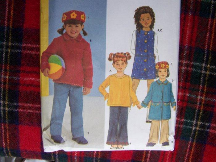 Easy Childs Winter Wardrobe Sewing Pattern Top Pants Jumper Dress Coat Jacket Hat
